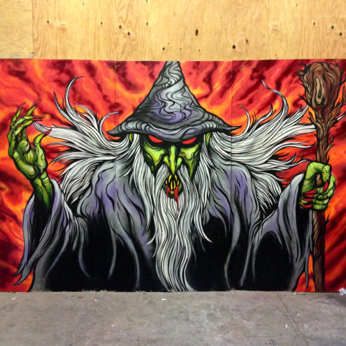 Blood Wizard Mural