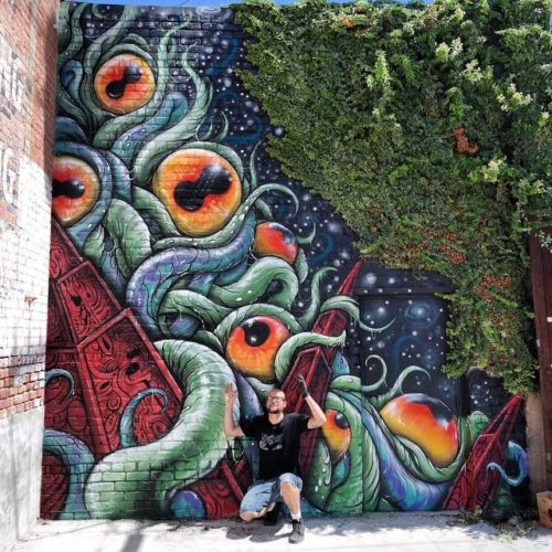 Cosmic Shoggoth Mural