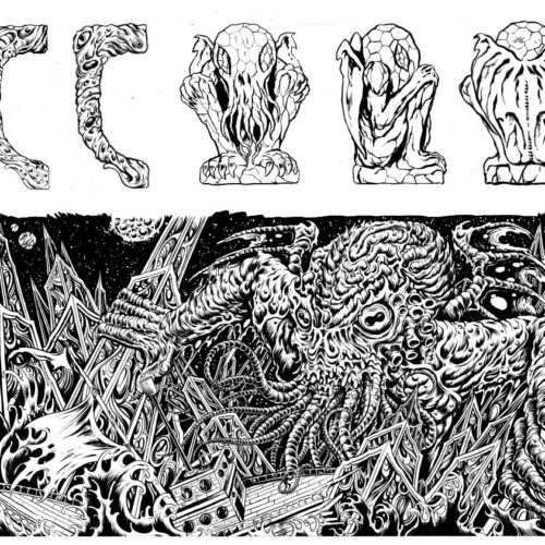 Cthulhu Mug Illustrations