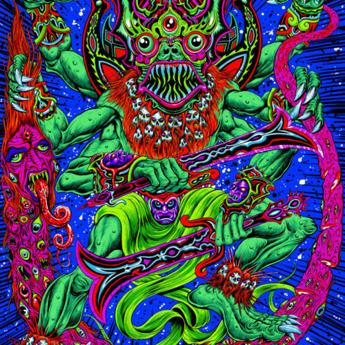 Dancing Death God Print