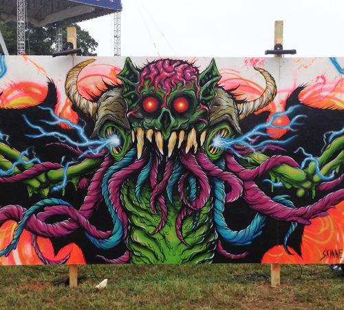 Exploding Bat Mural