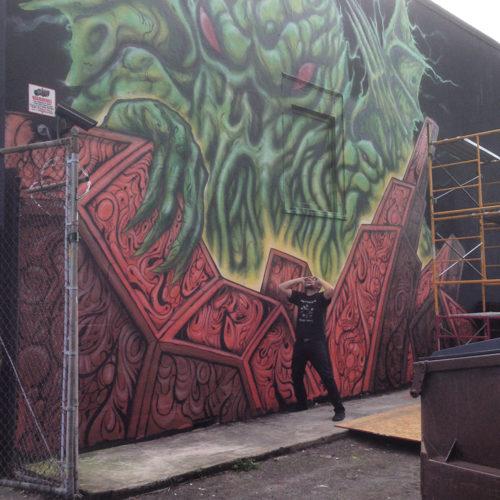 Giant Cthulhu Mural Portland