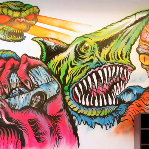 Mishka Mural LA with Lamour Supreme