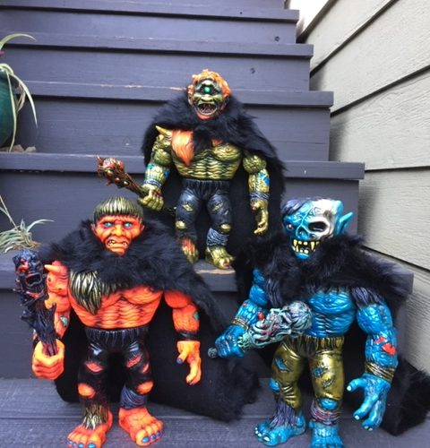 Morgogg Ogos and Abominox Vinyl Toys