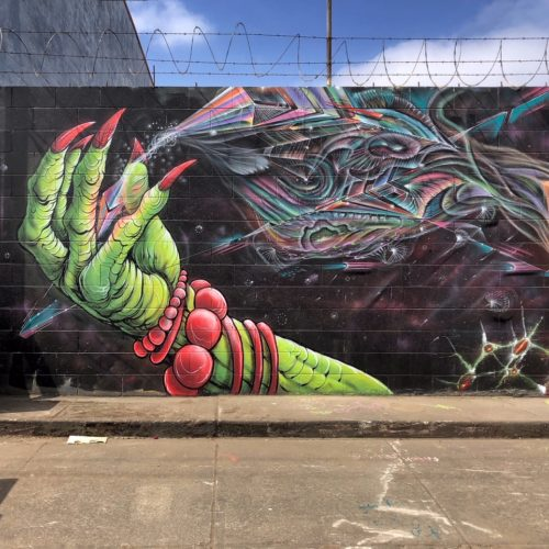 Mural with eon and Lord Pawn