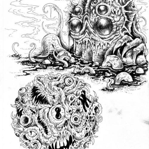 Weird Horror Graphics